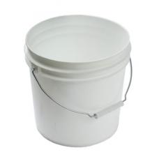 BUCKET - PLASTIC WHITE - 3 1/2 GALLON